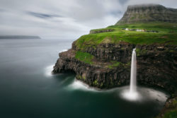Cascate faroese Gásadalur